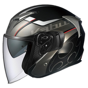 597153 [ジェットヘルメット EXCEED GLIDE ブラックガンメタ XL]