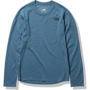 ロングスリーブ クライメートウールクルー L/S Climate Wool Crew NT61871 マラードブルー(MA) Mサイズ [アウトドア カットソー メンズ]