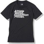 ショートスリーブアスリートテステッドロゴティー S/S Athlete Tested Logo Tee NT82072 ブラック(K) Mサイズ [アウトドア カットソー メンズ]