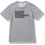 ショートスリーブアスリートテステッドロゴティー S/S Athlete Tested Logo Tee NT82072 ミックスグレー(Z) Sサイズ [アウトドア カットソー メンズ]