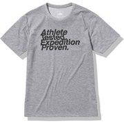 ショートスリーブアスリートテステッドロゴティー S/S Athlete Tested Logo Tee NT82072 ミックスグレー(Z) Mサイズ [アウトドア カットソー メンズ]