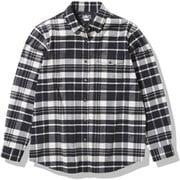 ロングスリーブストレッチフランネルシャツ L/S Stretch Flannel Shirt NRW62031 ヘリテージホワイトチェック(HW) XLサイズ [アウトドア シャツ レディース]