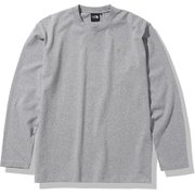 ロングスリーブヌプシコットンティー L/S Nuptse Cotton Tee NT82037 ミックスグレー(Z) XLサイズ [アウトドア カットソー メンズ]