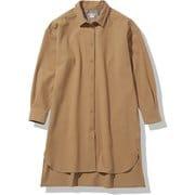 インヨーロングシャツ Inyo Long Shirt NRW62061 ユーティリティーブラウン(UB) Mサイズ [アウトドア シャツ レディース]
