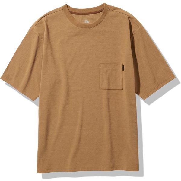 ショートスリーブエアリーポケットティー S/S Airy Pocket Tee NT11968 ユーティリティーブラウン(UB) Lサイズ [アウトドア カットソー メンズ]