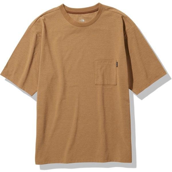 ショートスリーブエアリーポケットティー S/S Airy Pocket Tee NT11968 ユーティリティーブラウン(UB) XLサイズ [アウトドア カットソー メンズ]