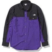 ロングスリーブヌプシシャツ L/S Nuptse Shirt NR11961 ピークパープル(PP) Lサイズ [アウトドア シャツ ユニセックス]
