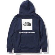 バックスクエアロゴフーディ Back Square Logo Hoodie NT62040 TNFネイビー(NY) Lサイズ [アウトドア スウェット メンズ]