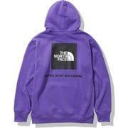 バックスクエアロゴフーディ Back Square Logo Hoodie NT62040 ピークパープル(PP) Mサイズ [アウトドア スウェット メンズ]
