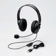 HS-103UBK [ヘッドセット Φ40mmドライバー 両耳 USB 簡易パッケージ]