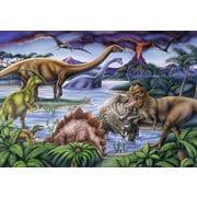 086139 フレームパズル 恐竜たちの遊び場 35ピース [知育玩具]