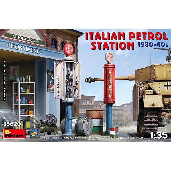 MA35620 イタリア給油所 1930-40年代 [1/35スケール プラモデル]