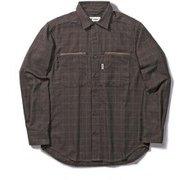 TSイージージッパーシャツ TS Easy Zipper Shirt 5112083 ブラウン XLサイズ [アウトドア シャツ メンズ]