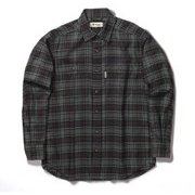 TSテンダーチェックシャツ TS Tender Check Shirt 5112085 ブラック XLサイズ [アウトドア シャツ メンズ]