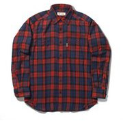 TSテンダーチェックシャツ TS Tender Check Shirt 5112085 レッド Lサイズ [アウトドア シャツ メンズ]