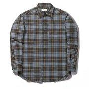 TSウォームチェックシャツ TS Warm Check Shirt 5112088 ブラウン XLサイズ [アウトドア シャツ メンズ]