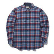 WWレトロチェックシャツ WW Retro Check Shirt 5112091 ブルー Lサイズ [アウトドア シャツ メンズ]