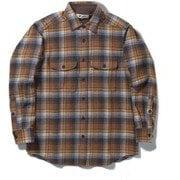 WWレトロチェックシャツ WW Retro Check Shirt 5112091 ブラウン Lサイズ [アウトドア シャツ メンズ]