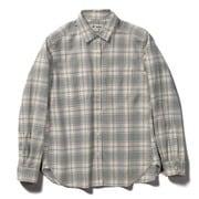 TSウォームチェックシャツ TS Warm Check Shirt 8112049 アイボリー Mサイズ [アウトドア シャツ レディース]