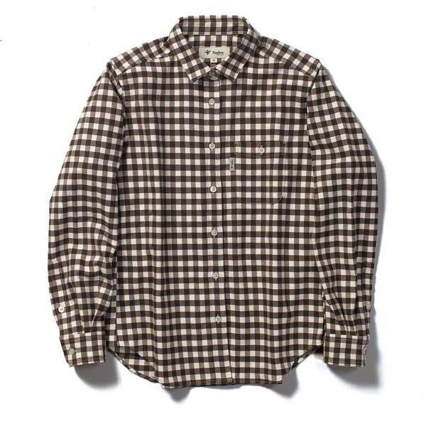 TSストレッチチェックシャツ TS Stretch Check Shirt 8112051 ブラック Sサイズ [アウトドア シャツ レディース]