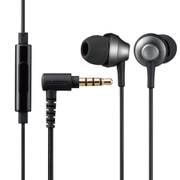 EHP-FS12CMBK [ステレオイヤホン/カナル型/φ3.5mm/マイク付/Fast Music/FS12C/φ10.0mm/高耐久ケーブル/ブラック]