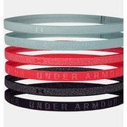 UAヘザー ミニヘッドバンド(6個セット) Heather Mini Headband (6pk) 1311044  Enamel Blue/ Rush Red/Seaglass Blue (477) [スポーツウェアアクセサリ ヘッドバンド]