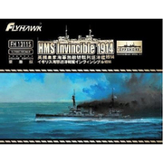 FLYFH1311S 1/700 イギリス海軍 巡洋戦艦 インヴィンシブル 1914 豪華版 [プラモデル 艦船シリーズ]