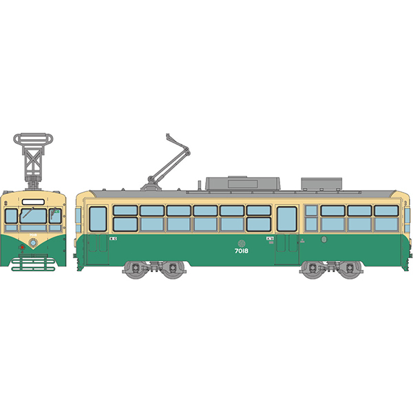 31273 Nゲージ 鉄道コレクション 富山地方鉄道軌道線デ7000形7018号車(旧塗装) [Nゲージ 塗装組立済ディスプレイモデル 1/150スケール]
