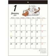 S8518475 ウォールカレンダー シンプル ディズニー くまのプーさん [キャラクターグッズ]