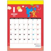 S8518521 ウォールカレンダー シンプルカラー セサミストリート [キャラクターグッズ]