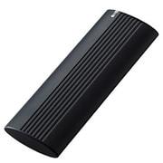 ESD-EH1000GBK [外付けSSD ポータブル USB3.2(Gen2)対応 Type-C 1TB ブラック]