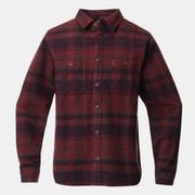 プラッシャーロングスリーブシャツ Plusher Long Sleeve Shirt OM9113 629 Washed Raisin Sサイズ [アウトドア シャツ メンズ]