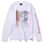 SMT201550 [ロングスリーブTシャツ MTV レインボーピクセルアート ホワイト Lサイズ]