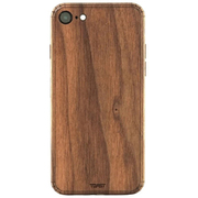 IPHSE2-PLA-01 [Plain Cover for iPhone SE(第2世代) シールケース Walnut]