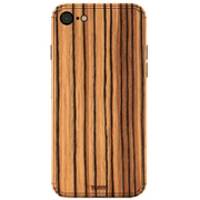 IPHSE2-PLA-06 [Plain Cover for iPhone SE(第2世代) シールケース Zebrawood]