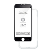 iFace Round Edge Tempered Glass Screen Protector ラウンドエッジ強化ガラス 画面保護シート iPhone SE(第2世代)/iPhone 8/iPhone 7/iPhone 6 用 ブラック