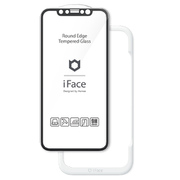 iFace Round Edge Tempered Glass Screen Protector ラウンドエッジ強化ガラス 画面保護シート iPhone 11/iPhone XR 用 ブラック