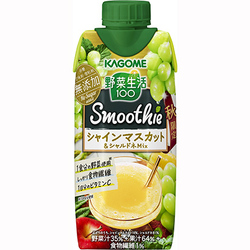 カゴメ 野菜生活100 Smoothie シャインマスカット&シャルドネMix 330ml×12本 [スムージー]