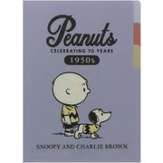 S2124874 PEANUTS 70周年 第2弾 クリアファイル A5 3P 50年代 [キャラクターグッズ]