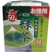 お徳用宇治抹茶入り緑茶 三角ティーバッグ 50パック [ティーバッグ]