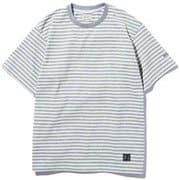 STRIPED T-SHIRT ストライプティーシャツ WJTE0020 グレー(H) Lサイズ [アウトドア カットソー メンズ]