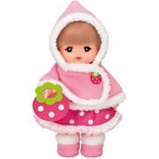 メルちゃん きせかえ 秋冬限定 ピンクのいちごのケープ [対象年齢:3歳~]
