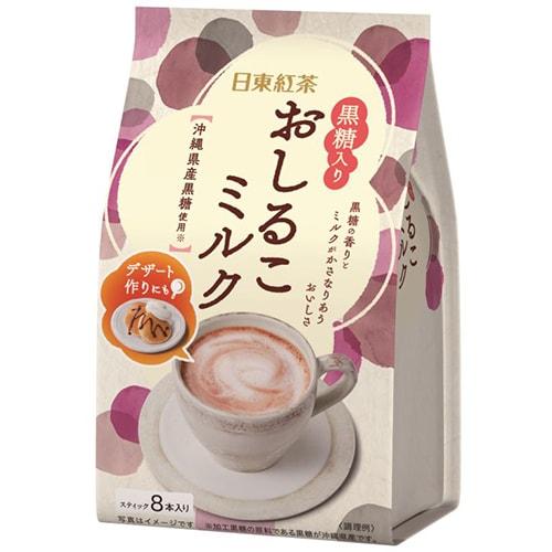 日東紅茶 黒糖入りおしるこミルク 8本