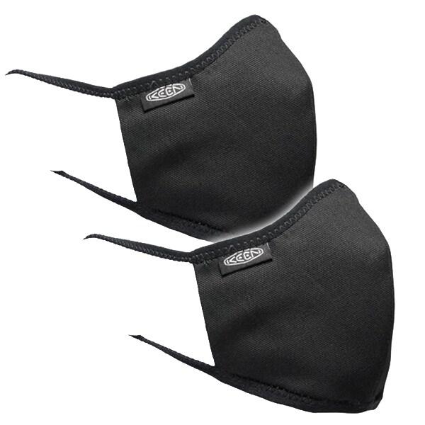 KEEN Together Mask M/Lサイズ (男性向けサイズ) BLACK 洗えるマスク 2枚入り 1025264