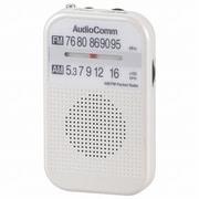 RAD-P132N-W AM/FMポケットラジオ ホワイト