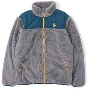 エルモフリースジャケット Elmo Fleece Jacket  CH04-1230 Gray/Navy Mサイズ [アウトドア フリース ジャケット メンズ]