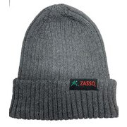 ZASSO オリジナルニット帽 GREY [スポーツウェアアクセサリ ニットキャップ]