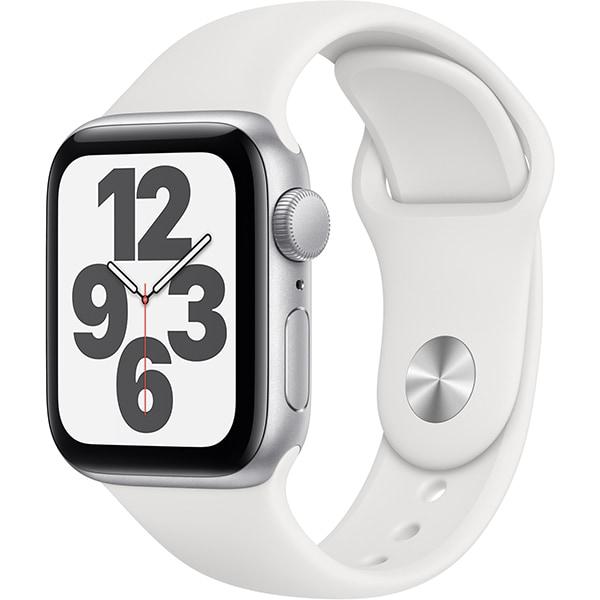 Apple Watch SE(GPSモデル)- 40mmシルバーアルミニウムケースとホワイトスポーツバンド [MYDM2J/A]