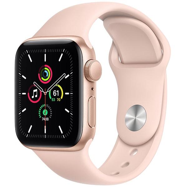 Apple Watch SE(GPSモデル)- 40mmゴールドアルミニウムケースとピンクサンドスポーツバンド [MYDN2J/A]
