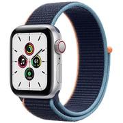 Apple Watch SE(GPS + Cellularモデル)- 40mmシルバーアルミニウムケースとディープネイビースポーツループ [MYEG2J/A]